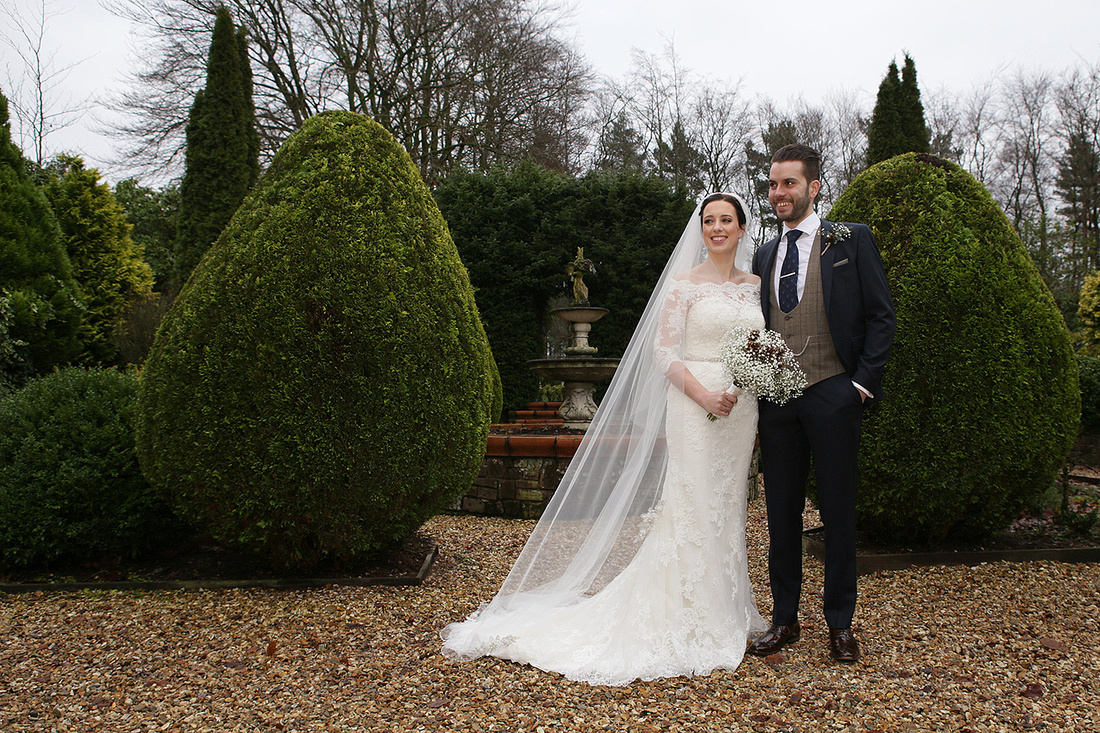 wedding photography of a bride and groom after their wedding ceremony at nunsmere hall, cheshire