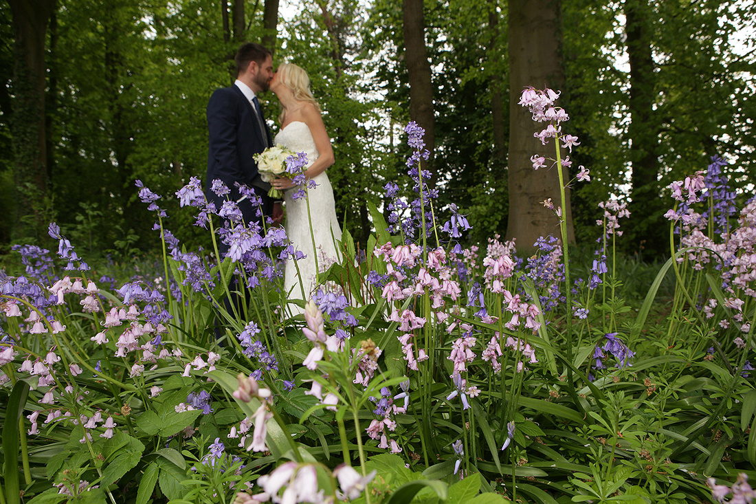 spring weddings bride and grooms outside cheshire wedding venues