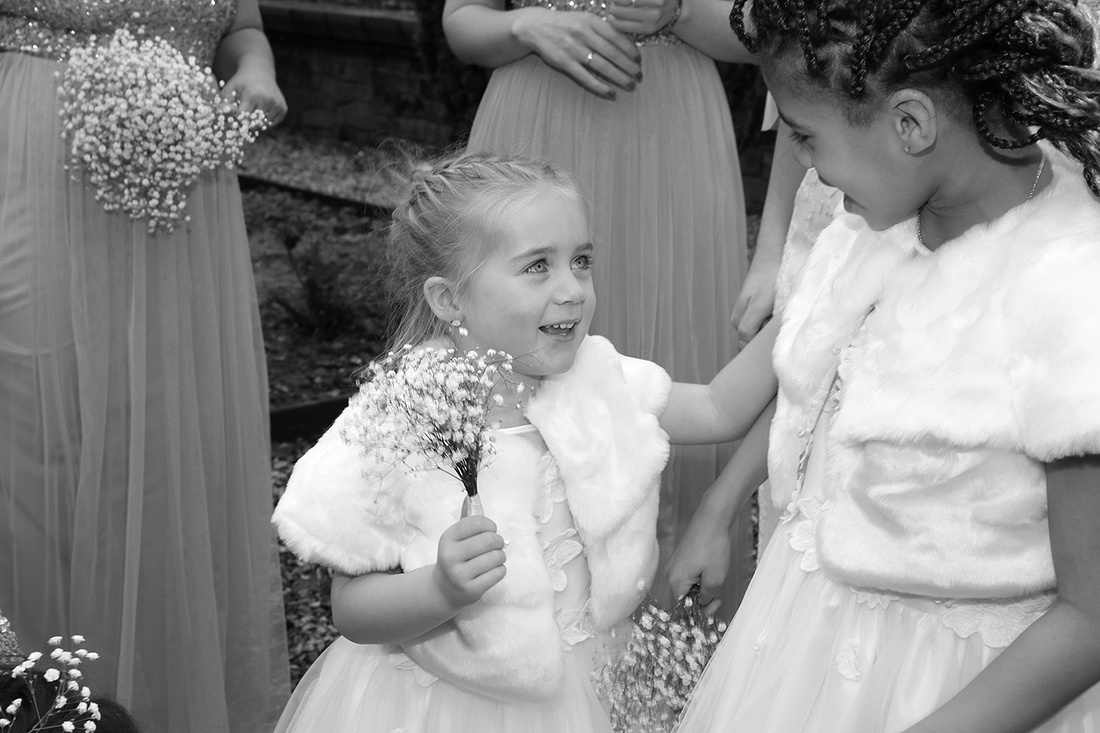 wedding photography of page boys and flower girls