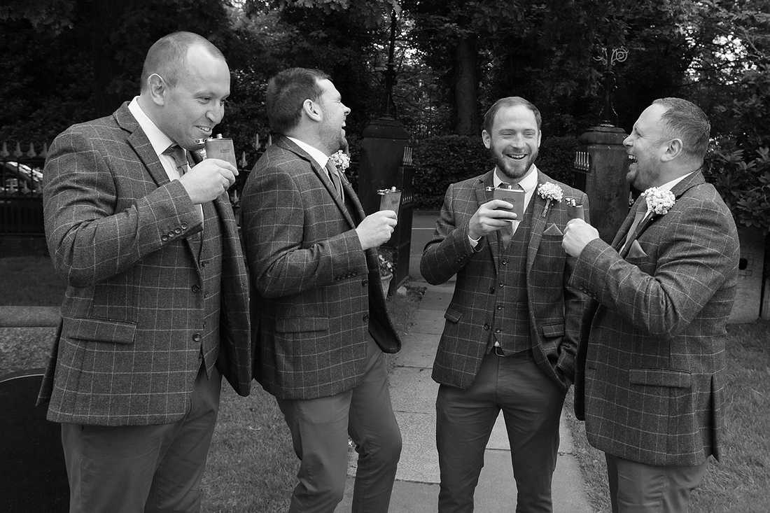 black and white wedding photography taken at various cheshire wedding venues
