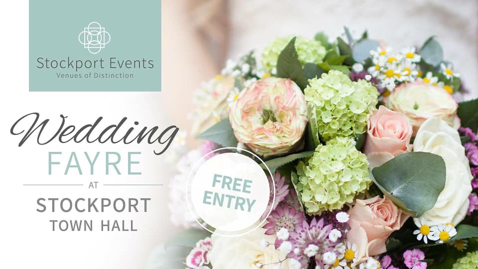 promoting the wedding fayre at stockport town hall