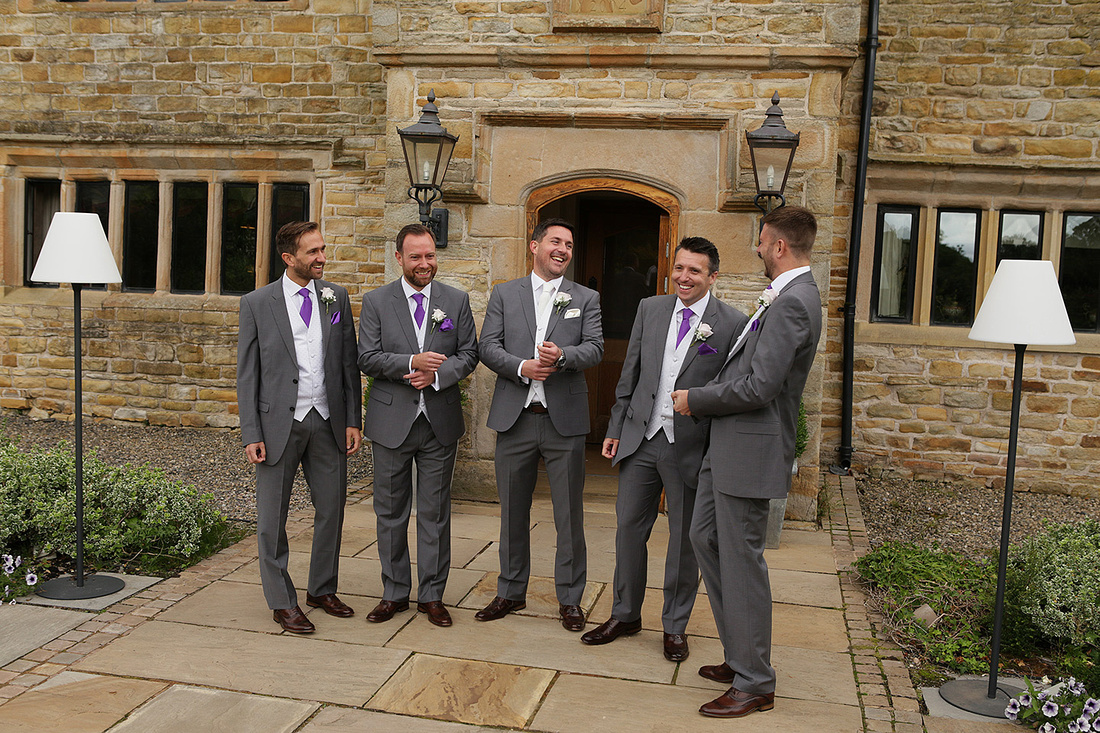 groom and best man and ushers pre wedding