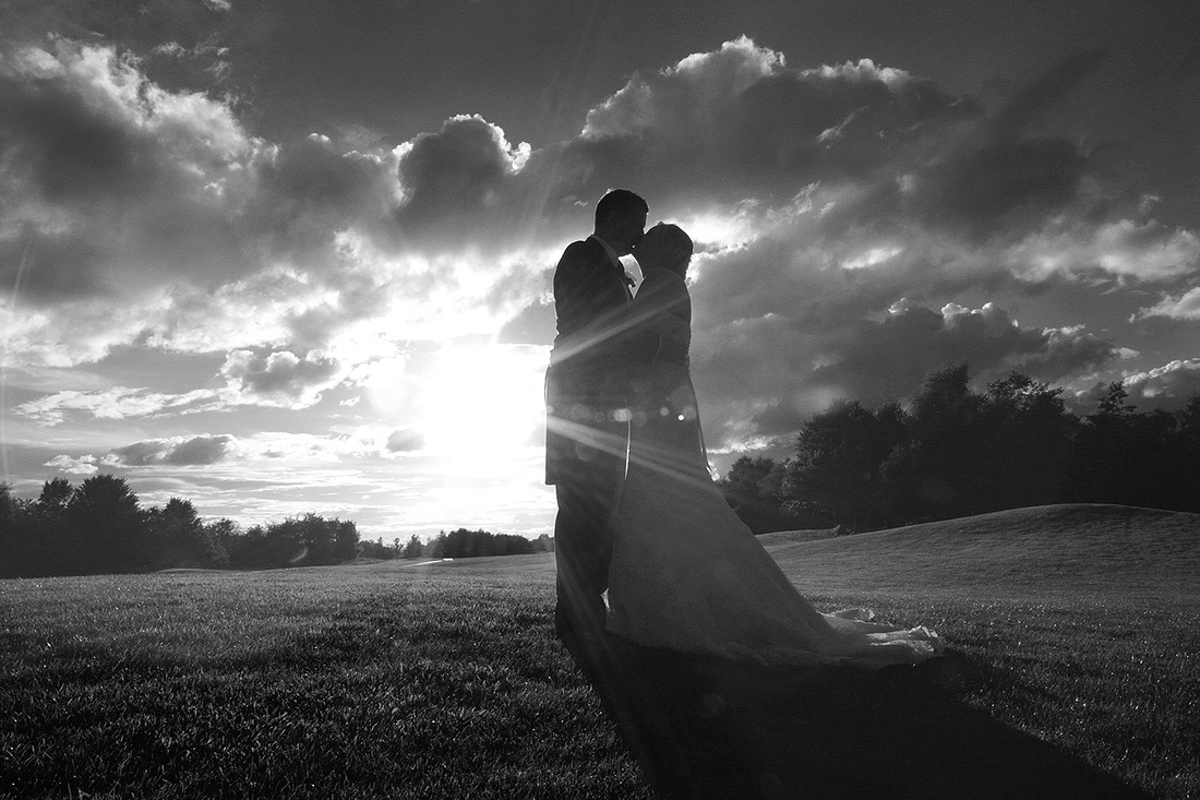bride and grooms in love