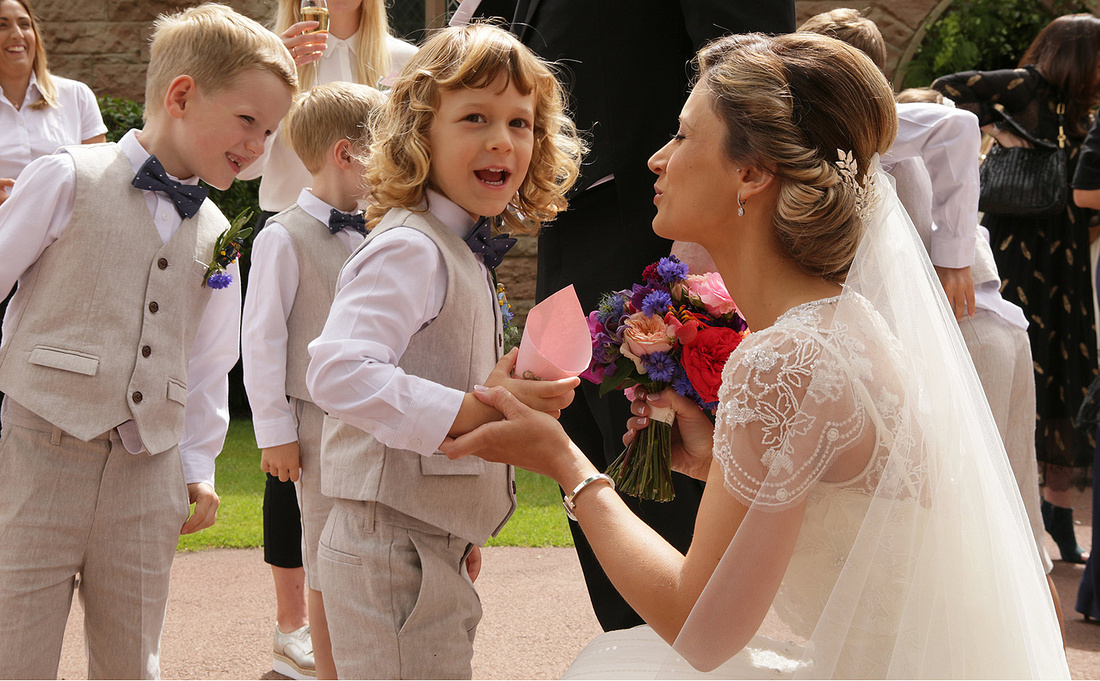 page boys and flower girls from various wedding venues in cheshire