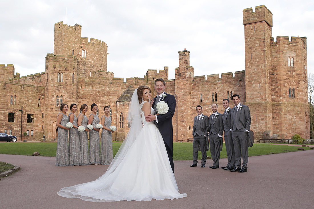 cheshire wedding photographers at peckforton castle