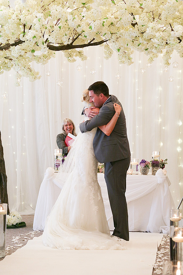 newly weds kissing at various wedding venues in cheshire