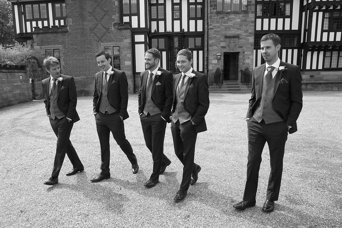 the grooms wedding day