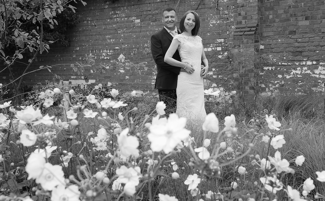 bride and groom at the double tree hotel chester
