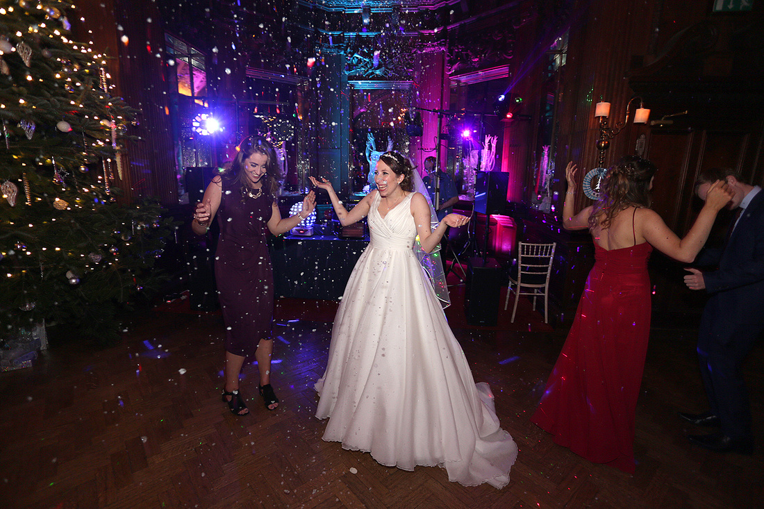 natural and fun wedding photography during the wedding ceremony at peckforton castle