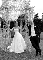wedding couple by gazebo